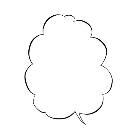 雲型吹き出し手描きイラスト