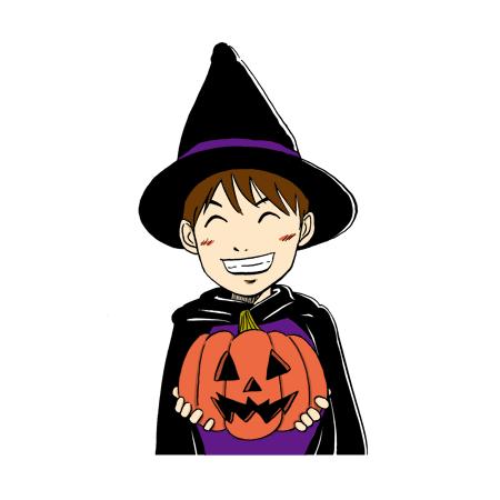 ハロウィンの仮装少年子ども