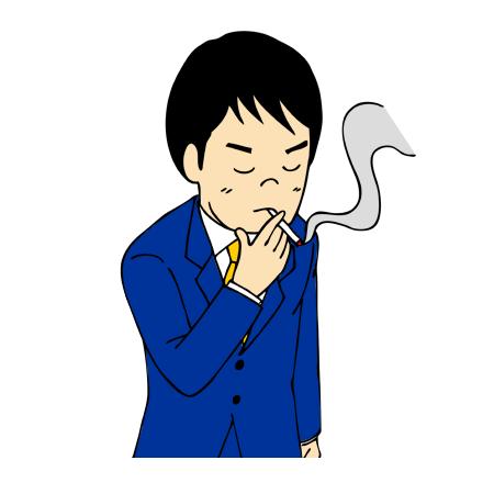 喫煙場所でタバコを吸う男性イラ...