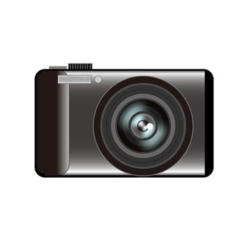 コンパクトデジタルカメライラスト黒