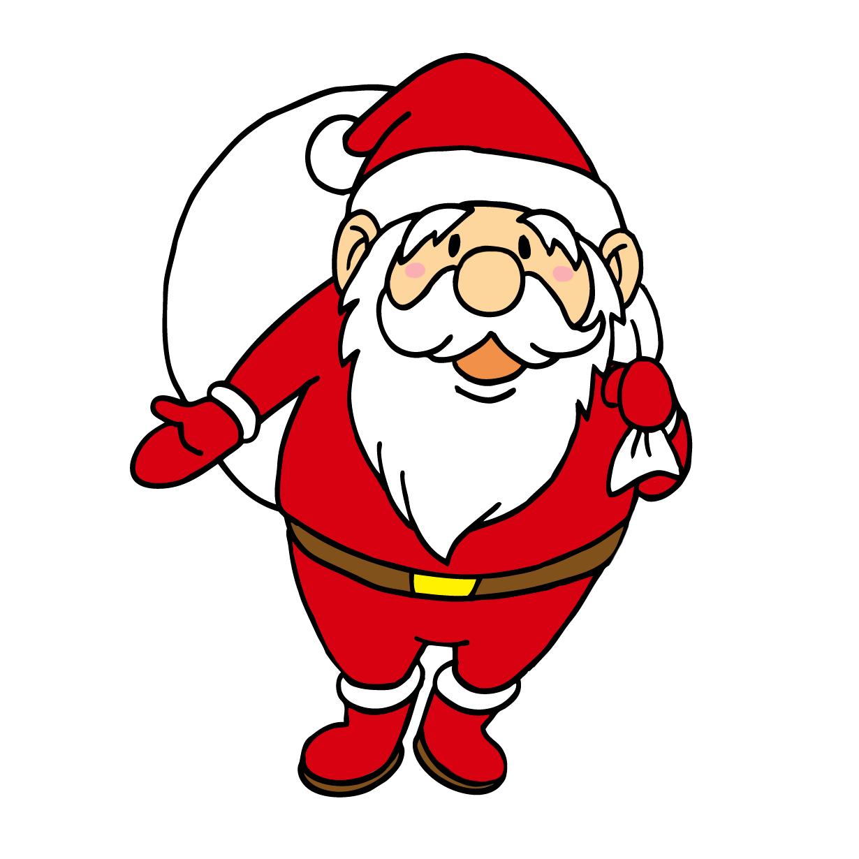 クリスマスのサンタクロースイラスト2人