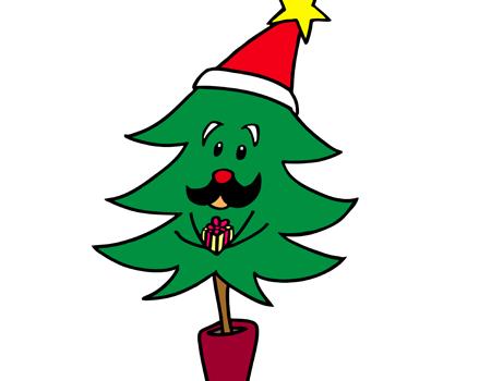 かわいいクリスマスツリーイラスト