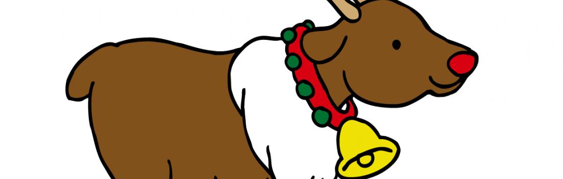 クリスマストナカイのイラスト無料