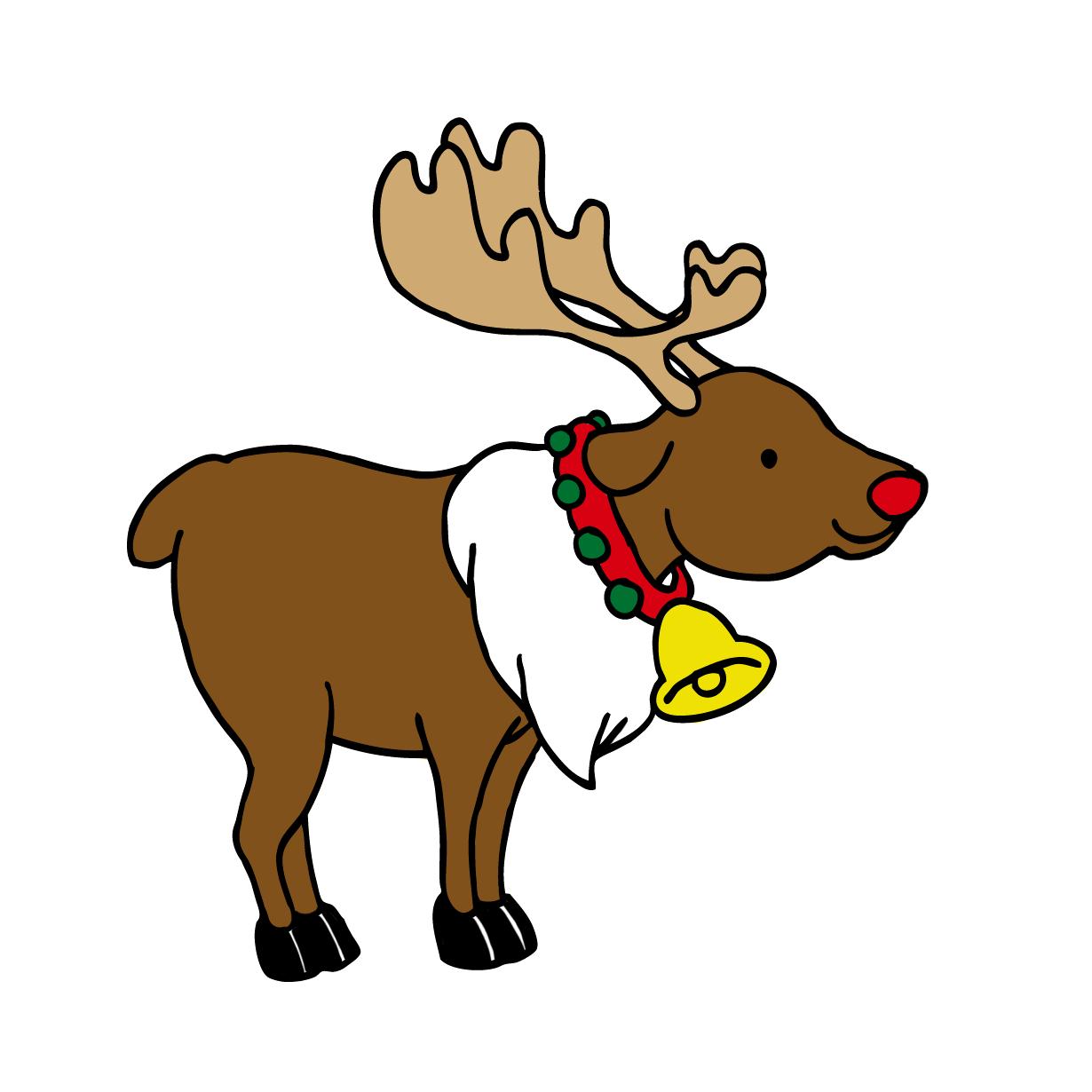 クリスマスの可愛いトナカイ動物イラスト 無料イラスト配布サイトマンガトップ