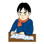 受験生の勉強イラスト