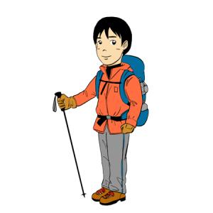 登山キャンプの男性イラスト