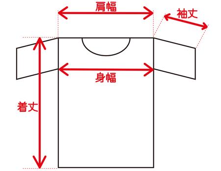 Tシャツ採寸イラスト無料