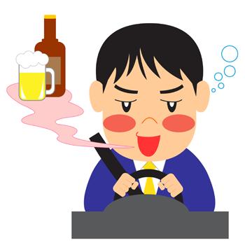 酔っぱらい飲酒運転イラスト