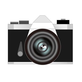 アンティークレトロカメライラスト