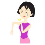 肩こりに悩む女性のイラスト無料