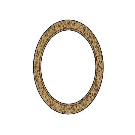 アンティーク風の額フレームイラスト丸