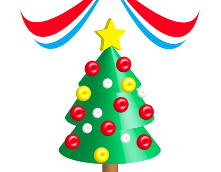 3Dクリスマスツリーイラスト
