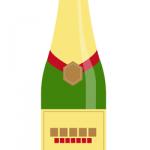 シャンパンボトルイラスト