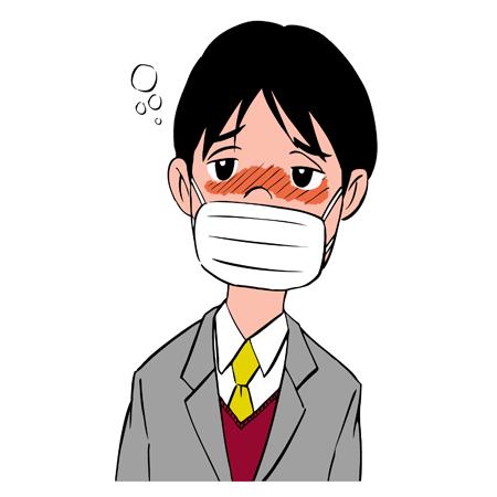 風邪ひき男性