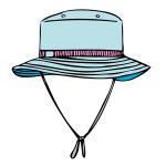 キャンプ登山帽子イラスト