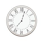 ローマ数字の掛け時計イラスト