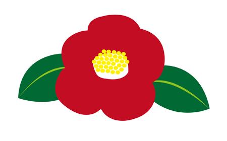 冬の花 赤椿と白椿イラスト 無料イラスト配布サイトマンガトップ