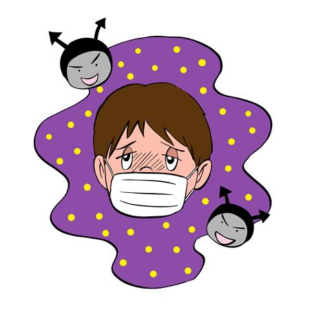 マスクをしている子ども
