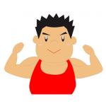 筋トレーニング男性イラスト