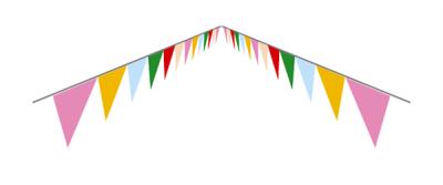 三角フラッグ遠近感イラスト