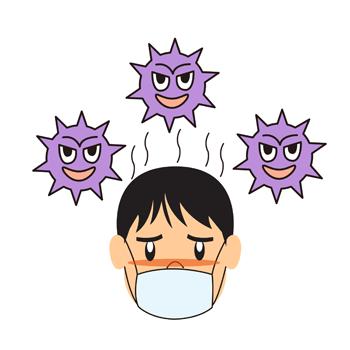 インフルエンザ風邪イラスト