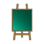 黒板とイーゼル看板イラスト