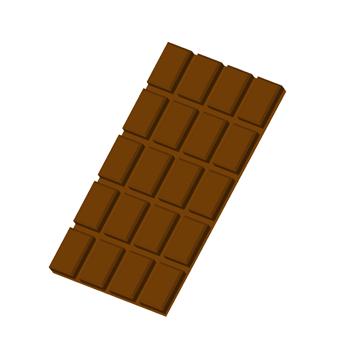 シンプルな板チョコのイラスト ...