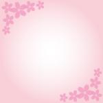 桜模様枠フレームイラスト