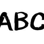 abc筆書き文字墨文字イラスト