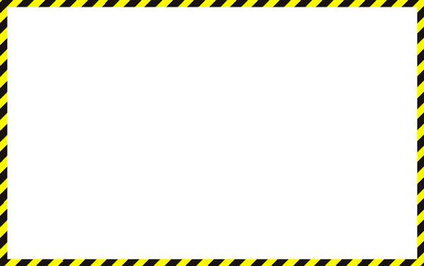 工事中や注意メッセージ枠フレーム