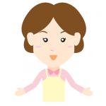 女性介護士イラストヘルパー