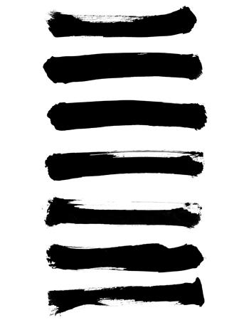 墨で描いた線ラインイラスト