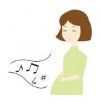 妊婦さん音楽胎教イラスト