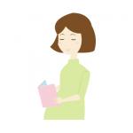 読書をする妊婦さんイラスト