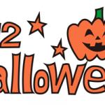 halloweenロゴお化けかぼちゃイラスト