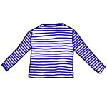 ボートネック長袖Tシャツ