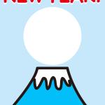 富士山フォトフレーム年賀状テンプレート