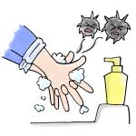 指の間まで手洗いイラスト