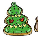 クリスマスクッキーお菓子イラスト