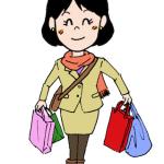 買い物をする女性イラスト