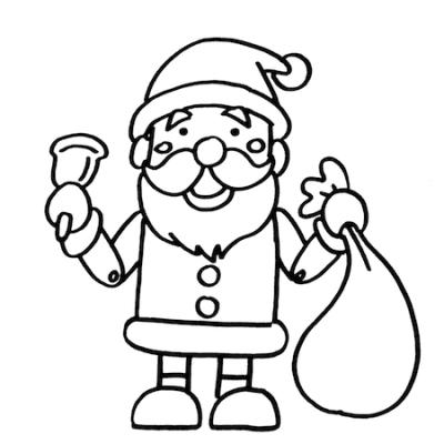 サンタクロース人形置物イラスト線画