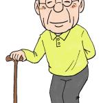 杖をつくおじいさんイラスト