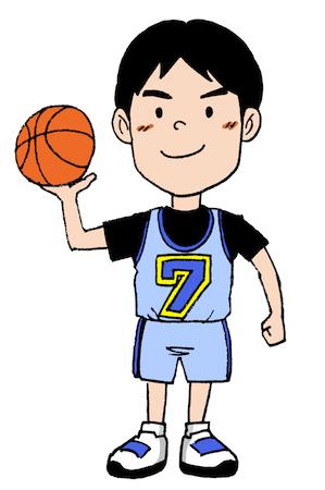 バスケットボール子どもイラスト