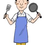 料理をする男性イラスト