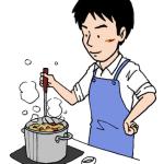 料理が上手い男性イラスト