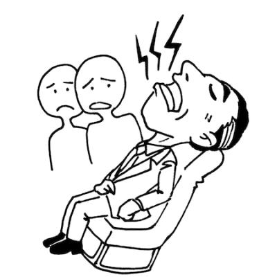 居眠りでいびきをかく男性線画
