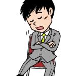 椅子に座って居眠りをする男性イラスト