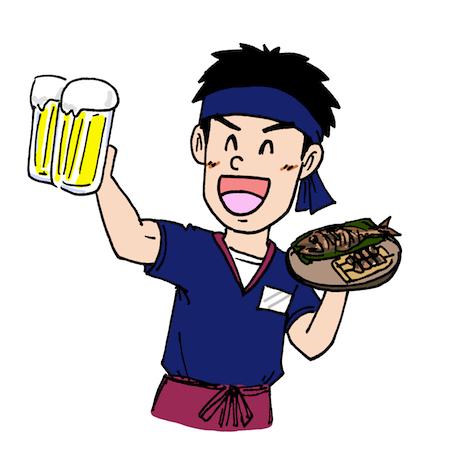 居酒屋アルバイト店員イラスト