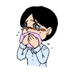 感動して涙を流す女性イラスト