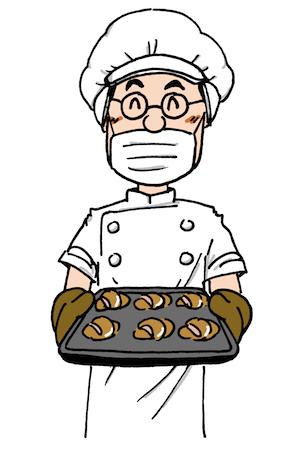 パン職人のイラスト